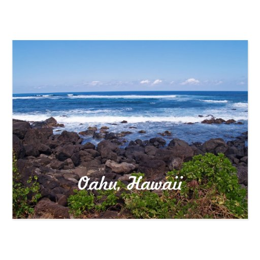 North Shore on the island of Oahu in Hawaii Post Card