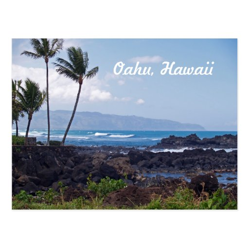North Shore on the island of Oahu in Hawaii Postcards