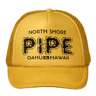 NORTH SHORE PIPE OAHU HAWAII TRUCKER HAT