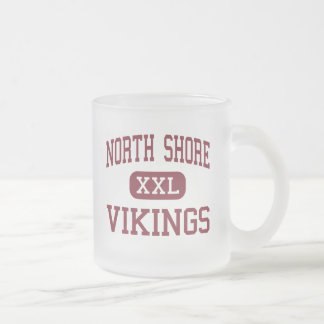 North Shore - Vikings - High - Glen Head New York 10 Oz Frosted Glass Coffee Mug