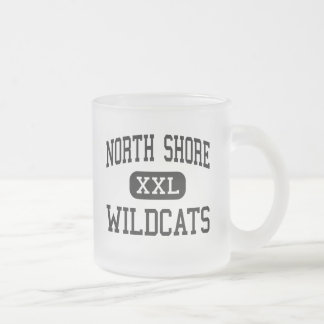 North Shore - Wildcats - High - Makoti 10 Oz Frosted Glass Coffee Mug