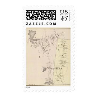 North, south Dennisville, New Jersey Postage