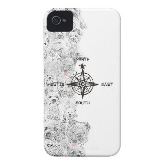 North South East & Westie Dog iPhone 4 Cover