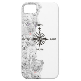 North South East & Westie Dog iPhone SE/5/5s Case