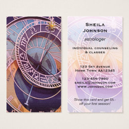 The north star business cards templates zazzle north star astrologer business card reheart Choice Image