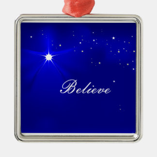 North Star Believe Christmas Ornament