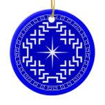 North Star Ceramic Ornament