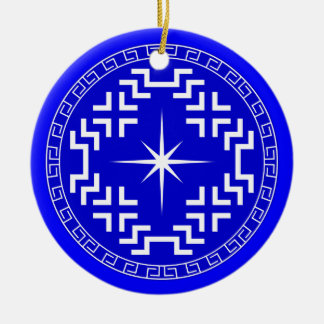 North Star Ceramic Ornament