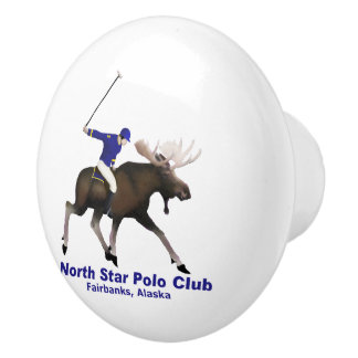 North Star Polo Club Ceramic Knob