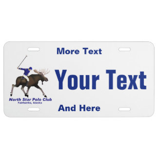 North Star Polo Club License Plate