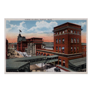 North Station - Railroad Depot Posters