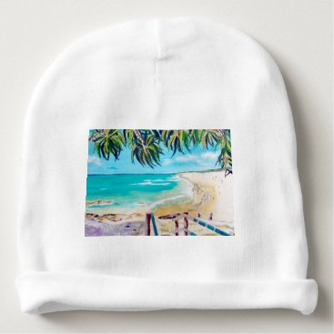 Beach Themed North Stradbroke Island Baby Beanie