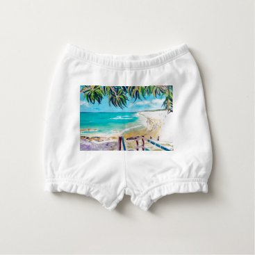 Beach Themed North Stradbroke Island Diaper Cover