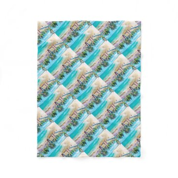 Beach Themed North Stradbroke Island Fleece Blanket