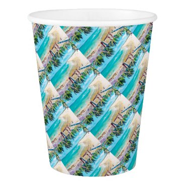 Beach Themed North Stradbroke Island Paper Cup