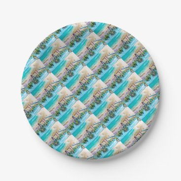 Beach Themed North Stradbroke Island Paper Plate