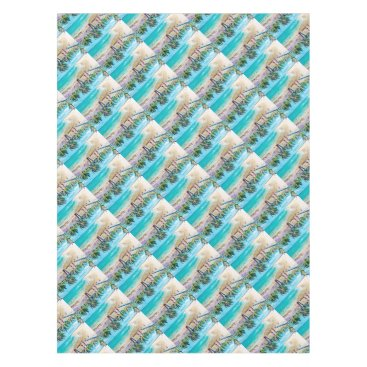 Beach Themed North Stradbroke Island Tablecloth