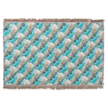 Beach Themed North Stradbroke Island Throw Blanket