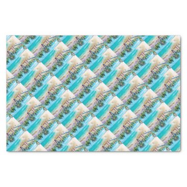 Beach Themed North Stradbroke Island Tissue Paper