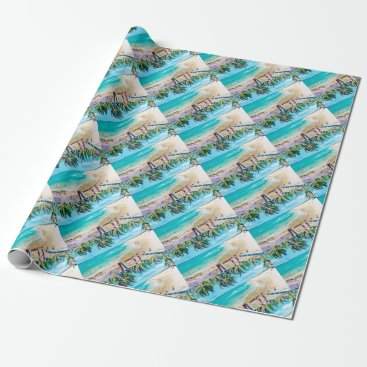Beach Themed North Stradbroke Island Wrapping Paper