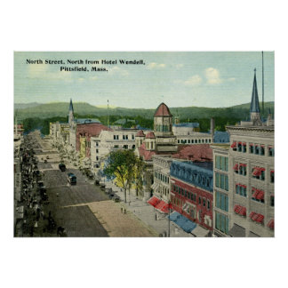 North Street, Pittsfield 1912 Vintage Poster