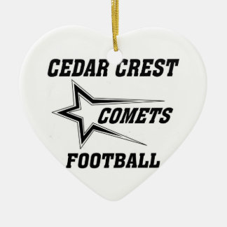 North Texas Pop Warner Cedar Crest Comets Christmas Tree Ornaments