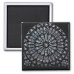North transept rose window 2 inch square magnet