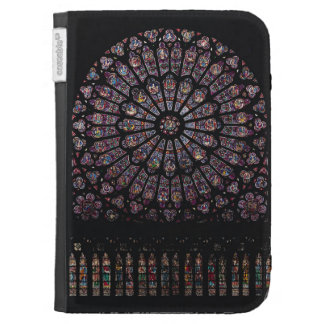 North transept rose window depicting the Virgin an Kindle 3 Cases