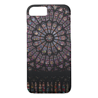 North transept rose window depicting the Virgin an iPhone 7 Case