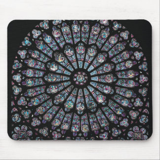 North transept rose window mouse pad