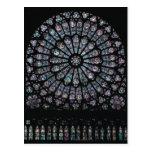 North transept rose window postcard