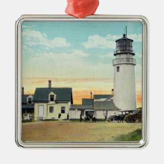 North Truro Highland Lighthouse View Metal Ornament