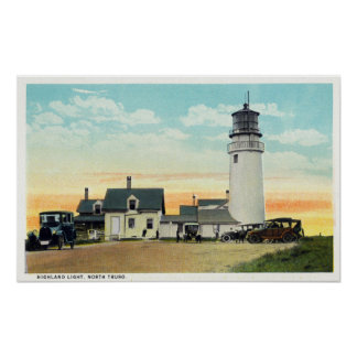 North Truro Highland Lighthouse View Poster