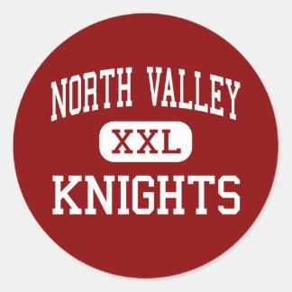 North Valley - Knights - High - Grants Pass Oregon Round Sticker