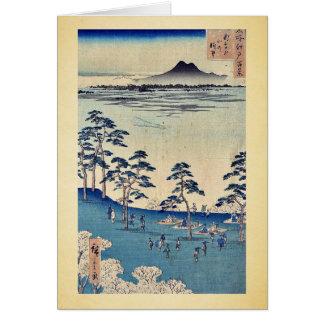 North view from Asukayama by Ando,Hiroshige Greeting Card