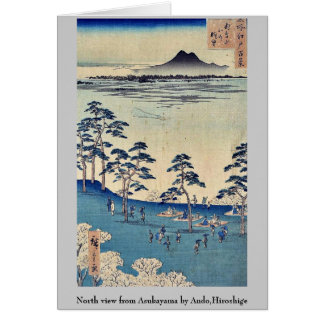 North view from Asukayama by Ando,Hiroshige Stationery Note Card