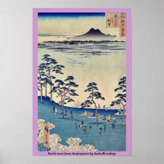 North view from Asukayama by Ando,Hiroshige Poster