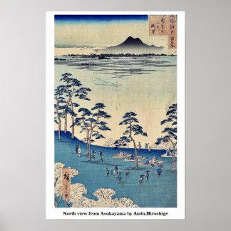 North view from Asukayama by Ando,Hiroshige Posters