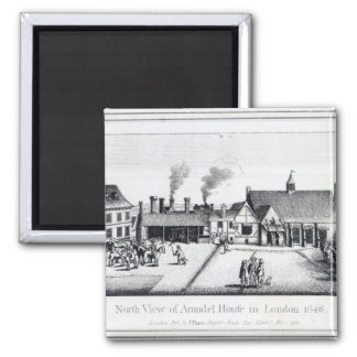 North View of Arundel House in London Magnet