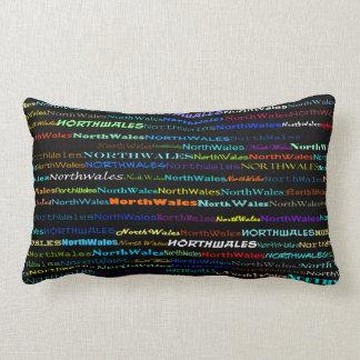 North Wales Text Design I Lumbar Pillow