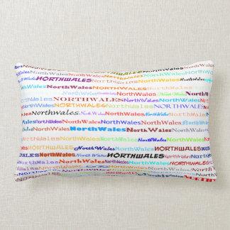 North Wales Text Design II Lumbar Pillow
