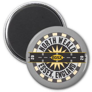 North Weald Essex England EGSX Airport 2 Inch Round Magnet