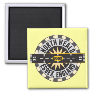 North Weald Essex England EGSX Airport 2 Inch Square Magnet