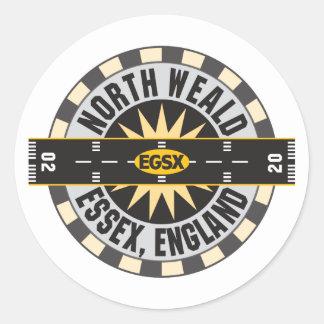 North Weald Essex England EGSX Airport Classic Round Sticker