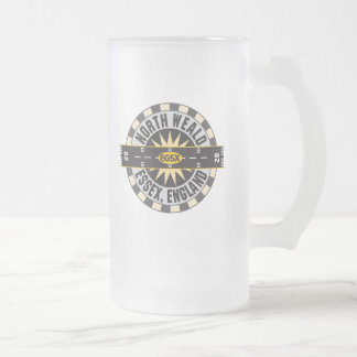 North Weald Essex England EGSX Airport Frosted Glass Beer Mug