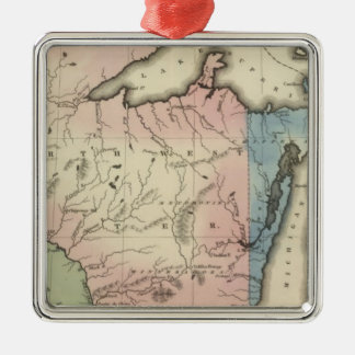 North Western and Michigan Territories Metal Ornament