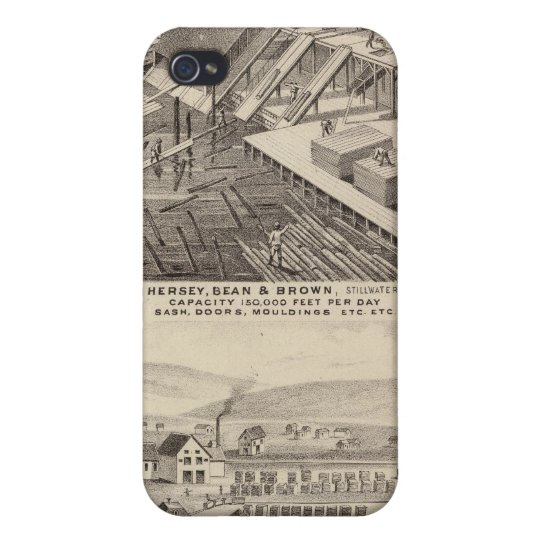 North Western Mills of Hersey, Minnesota Cover For iPhone 4