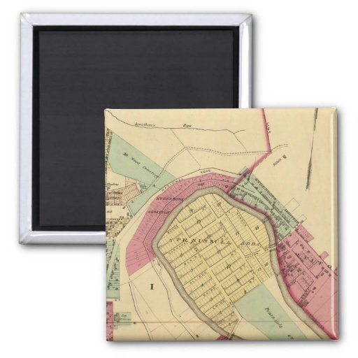 North Wheeling 2 Inch Square Magnet