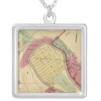 North Wheeling Square Pendant Necklace