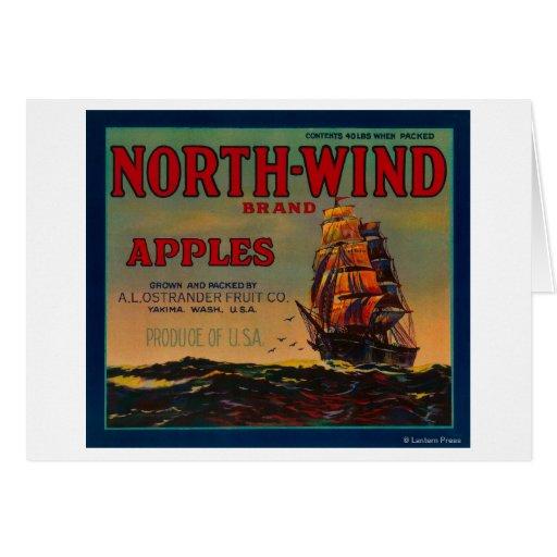 North Wind Apple Crate LabelYakima, WA Card